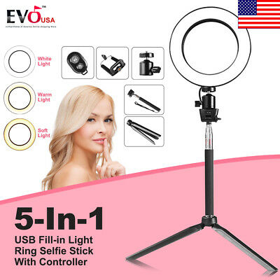LED Ring Light Dimmable LED Lighting Kit  with Stand for Phone Camera
