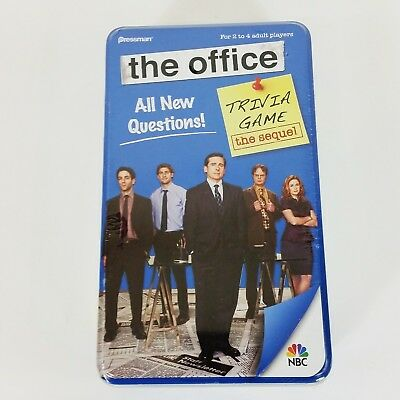 The Office Trivia Card Game The Sequel Blue Metal Tin New & Sealed 2010