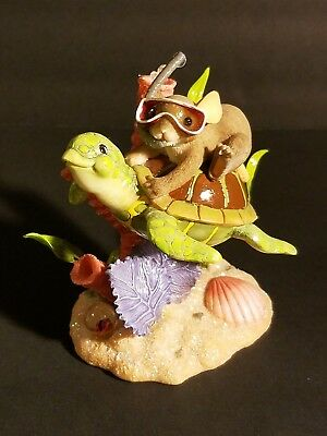 """Charming Tails Fitz & Floyd Figurine """"riding The Tide Of Friendship"""" Ex Cond."""