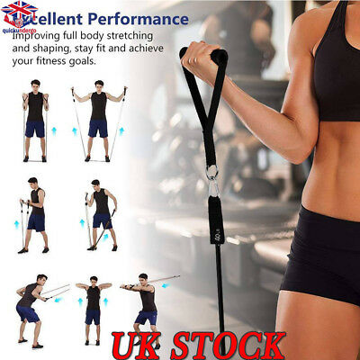 UK Resistance Bands Workout Exercise Yoga 11 PCS Set Crossfit Fitness Tubes New