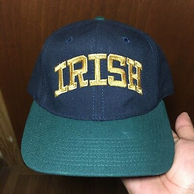 Vintage Notre Dame Fighting Irish Snapback Hat Rare Vtg Arch Cap NCAA