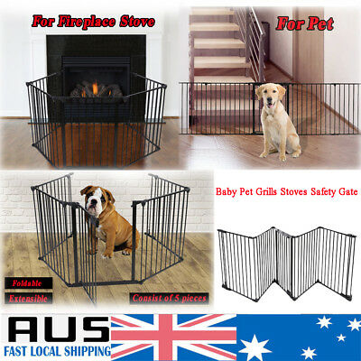 Pet Baby Grills Foldable Barrier Safe Guard Fence Gate Enclosure Dog Cat Puppy
