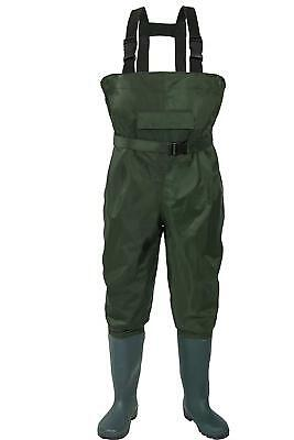 no!no! Chest Waders,Fishing Waders for Men and Women Waterproof NylonPVC SIZE 10