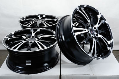 17x7 Black Wheels Fits Honda Civic Accord Prelude Rsx Mazda3 Mazda5 Mazda6 Rims
