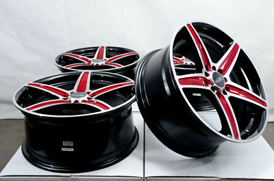 16x7 Red Wheels Fits Accord Nissan Altima Rogue Sentra Maxima Juke Celica Rims