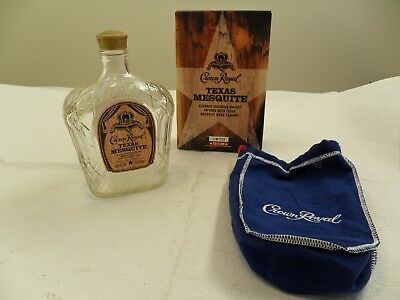 Crown Royal TEXAS MESQUITE Limited Edition Bottle Holiday Collectors * EMPTY
