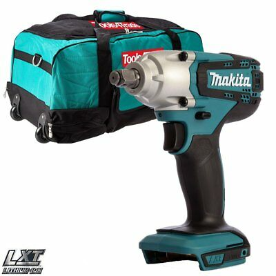"Makita DTW190Z 18V LXT 1/2"" Square Impact Wrench Body With 6pcs Tool Bag T4T600"
