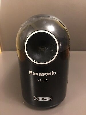 Panasonic KP-410 Auto-Stop Electric Pencil Sharpener Black W/ Suction Cup Feet
