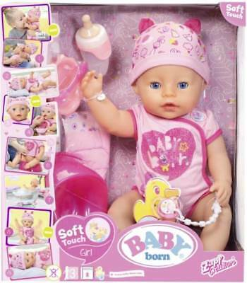 Baby Born - Soft Touch Interactive Doll + Accessories 825921 NEW
