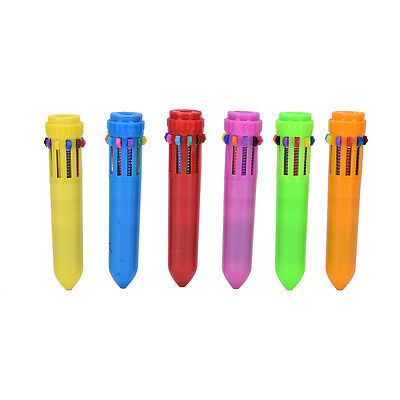 Multi-color 10 in1 Color Ballpoint Pen Ball Point Pens Kids School Office Supply