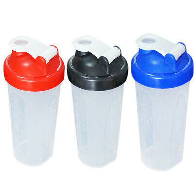 600ml Protein Shaker Blender Cup Pre Workout Mixer Water Bottle