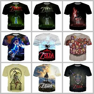 New Fashion Women/Men Game The Legend Of Zelda 3D Print Casual T-Shirt G432