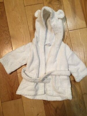 THE LITTLE WHITE Company Baby Dressing Gown Robe 6-12 months - £8.99 ... 9d0da680c