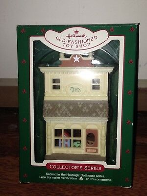 1985 Hallmark Ornaments Old-Fashioned Toy Shop #2 Nostalgic Houses and Shops NHS