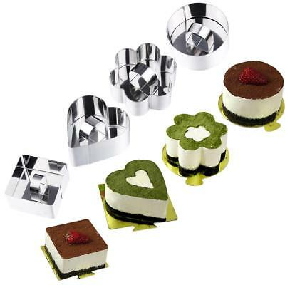 8 Shape Stainless Steel Cookie Cutter Biscuit Fruit Mousse Cake Mold MN