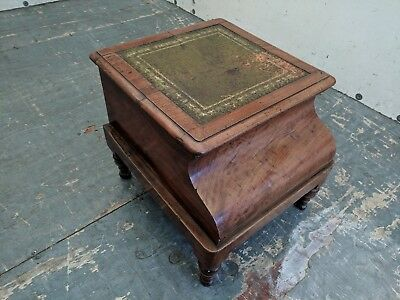 Vintage Antique Victorian bed step, commode, mahogany, plant stand, ice bucket,
