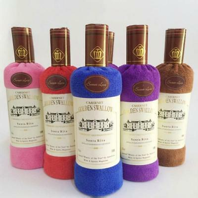 Soft Comfortable Wine Bottle Shape Bath Shower Cotton Towel Wedding Gift MN