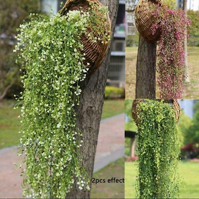 Ivy Vine Leaves Plants Artificial Fake String Hanging Garland Flower Decor MN