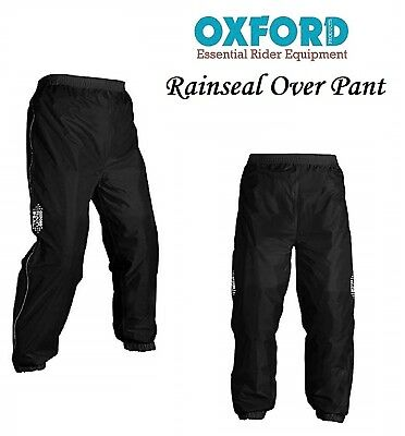 Motorcycle Over Trousers Oxford Rainseal Waterproof All Weather Bike Over Pant