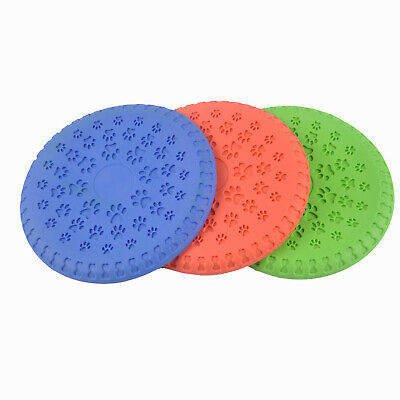 Fetch Toy - Rubber Flying Frisbee Disk for Dogs - Chew Resistant - Wont Crack