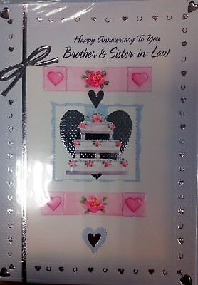 "Job Lot 60 ""happy anniversary to my brother and sister in law"" cards"
