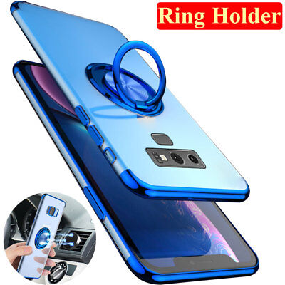 Slim Magnetic Ring Stand Holder Case Cover for SamsungGalaxy S10 Plus S10e Note9