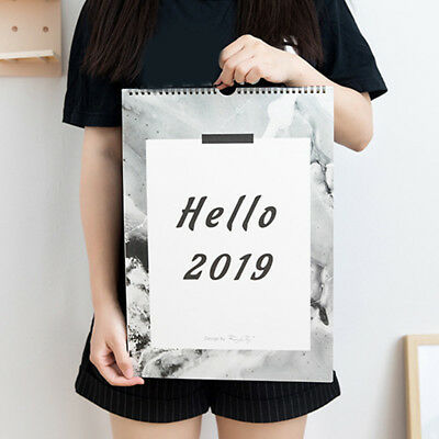 2019 Desk Hanging Wall Large Month to View Easy View Calendar Planner