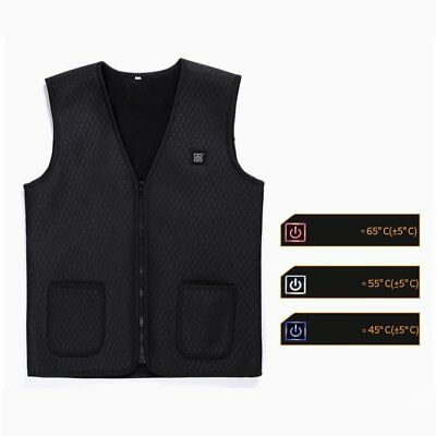 USB Infrared Heating Vest Jacket Winter Flexible Electric Thermal Waistcoat 3】