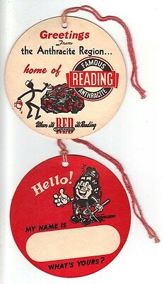 """A Set Of Coal Mine Name Tags Of """" Famous Reading Anthracite """" For Tag Collecters"""