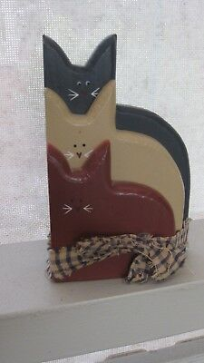 Crafted Wooden Cats Ornament