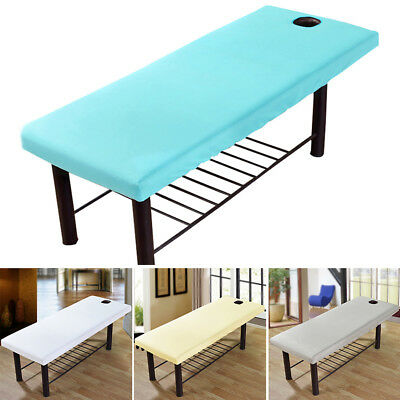 Elastic Massage Table Cover Salon Spa Bed Couch Sheet Bedding w/ Breath Hole AU