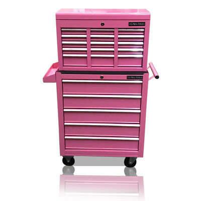 448 Us Pro Tools Pink Affordable Tool Chest Rollcab Steel Box Roller Cabinet