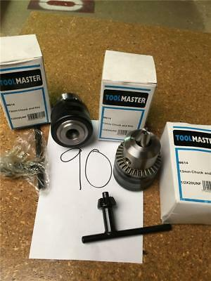 "CLEARANCE LOT90 TOOLMASTER 13mm 1/2"" CHUCK AND KEY 1/2"" X 20 UNF THREAD"