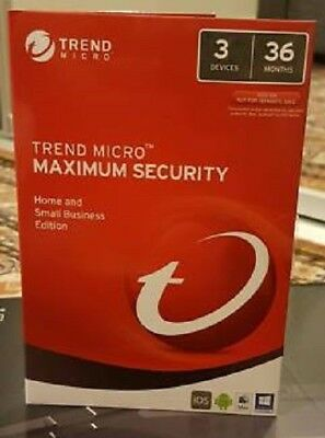 Trend Micro Maximum Security 12 (2018) 3 Years Licence 3 Devices
