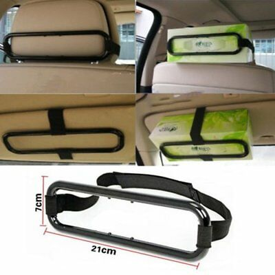 Car Tissue Holder Box Sun Visor Napkin Paper Case Seat Auto Leather Hanger WT