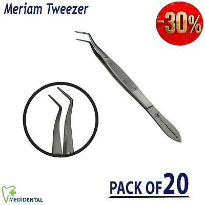 New Meriam Tweezers Toothed Dressing Surgical Dental forceps pliers pack of 20