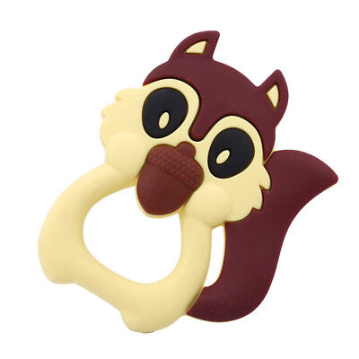 Silicone Teether Squirrel Shape Baby Ring Teething Teether Oral Health Care BS
