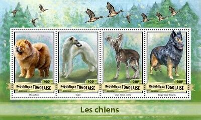 Togo 2017 Sheet Mnh Dogs Perros Chiens Cani Caes Hunden 1