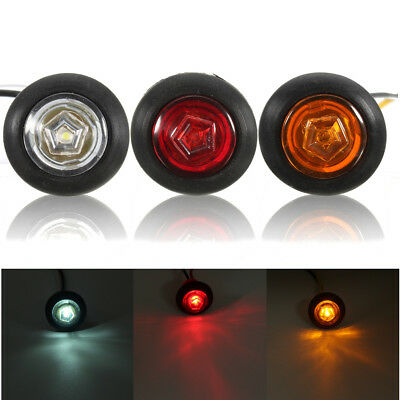 Universal Amber/Red/White Side Marker Light LED Lamp for 12V/24V Car Van Truc...