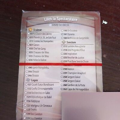 Deck Keyforge VF - Lilith la Spectaculaire