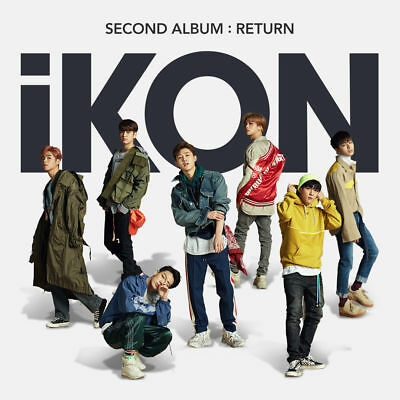 IKON [RETURN] 2nd Album RANDOM CD+POSTER+Photo Book+Lyrics+3p Card+Film+Sticker
