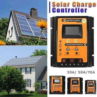 12V/24V 30A 50A 70A MPPT Solar Charge Controller Auto Battery Charger Regulator!