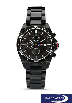 Original BMW M Chronograph Armbanduhr Herren Uhr Chrono schwarz - Watch black