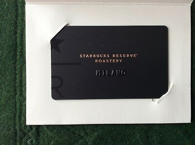Starbucks Milano reserve roastery card with sleeve