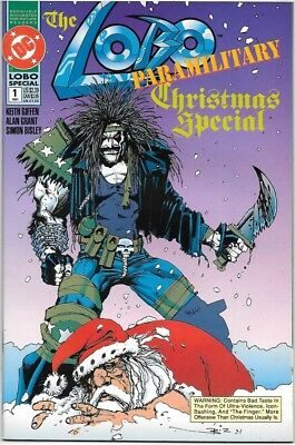 The Lobo Paramilitary Christmas Special Comic Book #1 DC 1991 NEAR MINT UNREAD