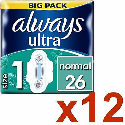 Always Ultra Normal Serviettes Hygiéniques Coussinets Taille 1 Ailes Femmes