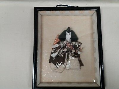 Japanese Samurai 3d quilted figure in frame