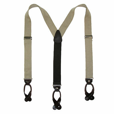 New CTM Men's Canvas Button-End Old West Suspenders (Tall Available)