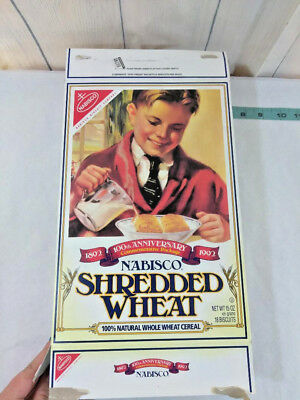 Vintage Nabisco Shredded Wheat Cereal Box 100th Anniversary 1892 Made in 1993