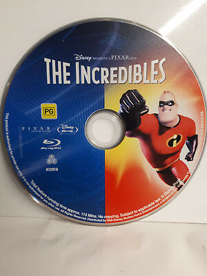 DISNEY Pixar THE INCREDIBLES Blu Ray (Disc Only - No Packaging) UNWATCHED from4K